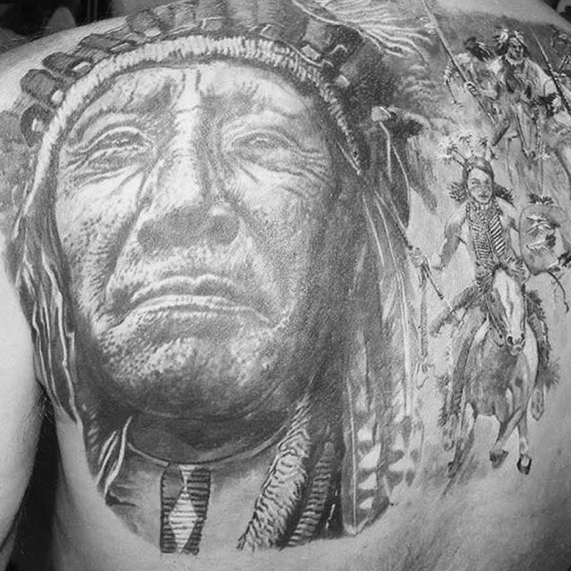 tattoo_indiaan_zw