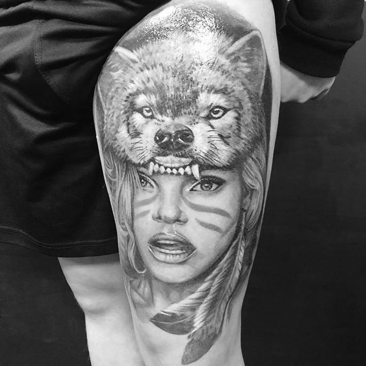 wolf tattoo zw